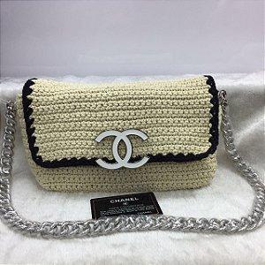 Bolsa Chanel Crochê 20CM