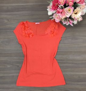 Blusa Florzinha Orange