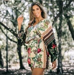 Vestido Kimono Flores Closet