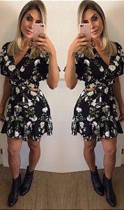 Vestido Black Flores Closet