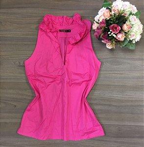 Blusa Cavada Gola Pink