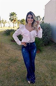 Calça Jeans Destroyed Flare Bebella