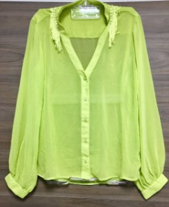 Camisa Green Franjas Lally