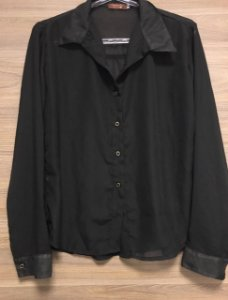 Camisa Black Bonequinha Seda