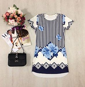 Vestido Neoprene Blue