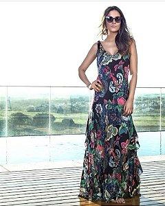 Vestido Longo Seda M.a