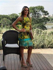 Vestido De Neoprene Pavão M.a