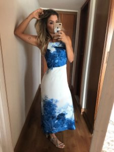 Vestido Estampado Blue Closet