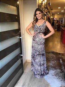 Vestido Longo Estampado Ariane M.A