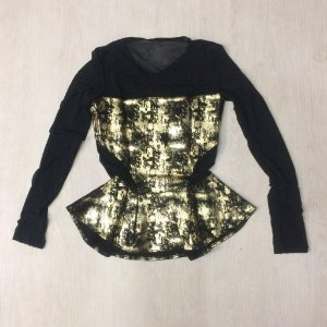 Blusa Juju fashion gold tule
