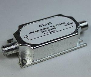 Chave Amplificadora de Linha 20db