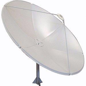 Antena Parabólica Chapa 180 cm Cabeçote Rastreável