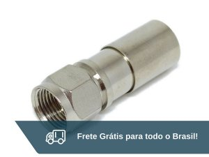 Conector De Pressão Para Cabo Rg6 - Frete Grátis