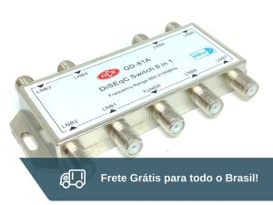 Chave Comutadora Diseqc 8 X 1 GCN - Frete Grátis