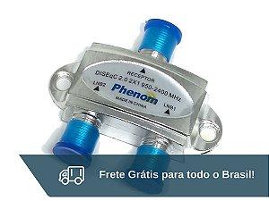 Chave Diseqc 2.0 2x1 Phenom - Frete Grátis