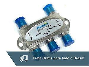Chave Diseqc 2.0 4x1 Phenom - Frete Grátis