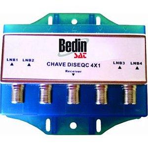 Chave Comutadora Diseqc 4x1 Prova D'água BedinSat