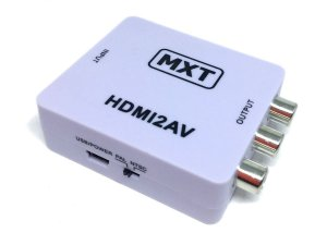 Mini Adaptador Conversor De HDMI Para RCA Video AV MXT