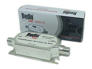 Amplificador de Linha Satélite 20dB BedinSat