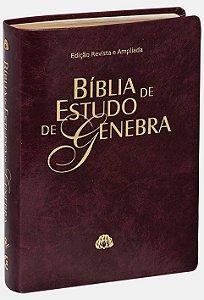 Bíblia de Estudo de Genebra (capa vinho)