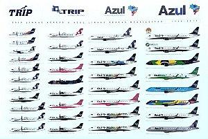 Poster Azul & Trip 60x40cm