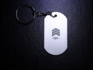 Chaveiro Dog Tag Sargento - Armed Country
