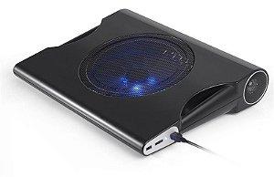 Base Cooler Multilaser Para Notebooks Até 15.6 Pol Com Caixa De Som 10w - Ac171