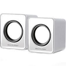 Caixa de Som Multilaser 2.0 Mini 3W RMS USB Branco - SP199