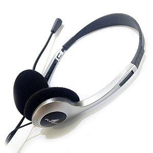 Fone Multimídia HBL-101 Prata/Preto FORTREK com microfone