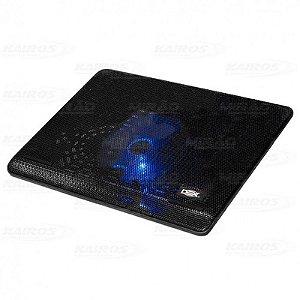Base para Notebook Até 15.6 Polegadas Preto Com Cooler e Led Dex - Dx-001