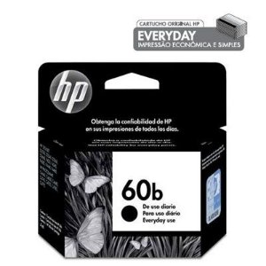 Cartucho HP 60B preto everyday