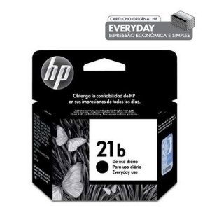 Cartucho HP 21B preto everyday