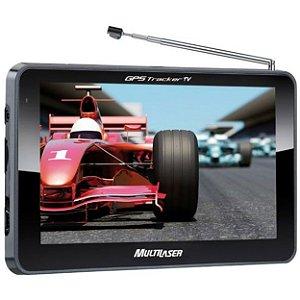 """GPS Multilaser Tracker 2 GP015 com Tela Touch Screen de 7"""", Alerta de Radares e TV Digital - Preto"""
