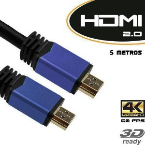 Cabo HDMI 2.0 Tv 3D 4K M/M C/ Filtro 5 Metros Blister - Empire