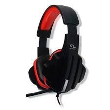 Fone de Ouvido Headset Gamer P2/Cabo Nylon Multilaser PH120