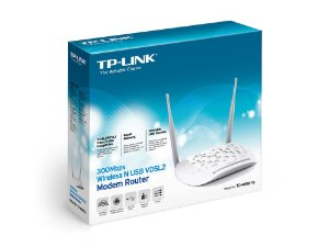 Modem Roteador Wireless N VDSL2 USB 300Mbps TD-W9970