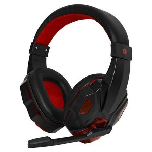 Headset Satellite AE-327 Gaming com Microfone - Preto/Vermelho