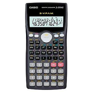 Calculadora Científica Casio FX-570MS com 401 Funções - Azul Escuro/Preto