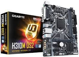 Placa Mãe GigaByte H310M DS2 1151 Intel H310 Ultra Durable motherboard with GIGABYTE