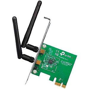 Placa de Rede para PC TP-Link TL-WN881ND 300Mbps em 2.4GHz com 2 Antenas