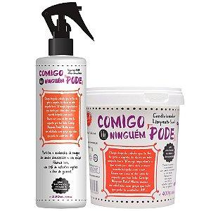 Lola Cosmetics -Kit Comigo Ninguém Pode Condicionador Limpante 5 em 1 400g + Spray BFF das Mechas