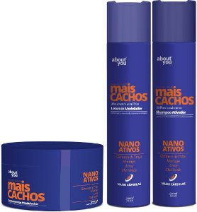 About You - Mais Cachos Kit Shampoo, Máscara e Leave-in com Nano Ativos