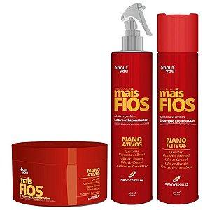 About You - Mais Fios Kit Shampoo, Máscara e Leave-in com Nano Ativos VENCE AGOSTO 2017