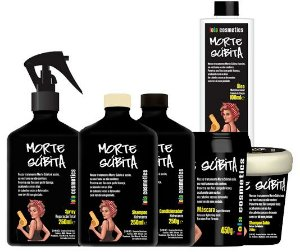 Lola Cosmetics - Morte Súbita Kit Completo (Shampoo + Condicionador + Shampoo Sólido + Máscara 450g + Reparação Total 250g + Óleo)