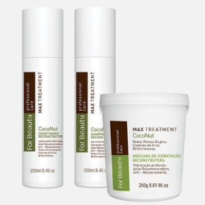 For Beauty - Kit Max Tratament Coconut Profissional Care