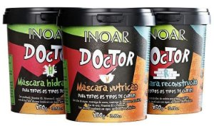Inoar - Doctor Kit Cronograma Capilar HNR 3 Máscaras 450g cada