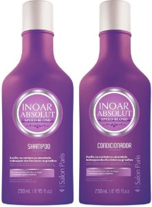 Inoar - Kit Duo Absolut Speed Blond (Shampoo 250ml + Condicionador 250ml)
