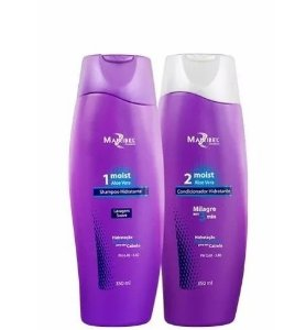 Mairibel Cosméticos - Kit Shampoo e Condicionador Moist Aloe Vera 350ml Cada