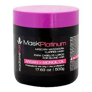 Madame Hair - Mask Platinum Acidificante Matizadora 500g