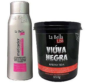 La Bella Liss - Kit Mascara Viúva Negra 950g + Matizador no Chuveiro 500ml